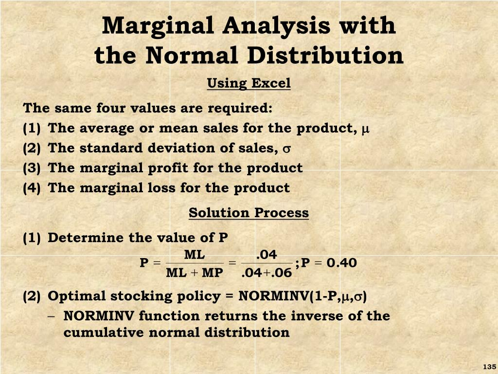 Marginal Analysis with