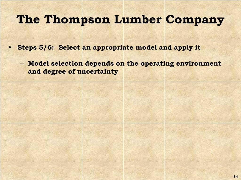 The Thompson Lumber Company