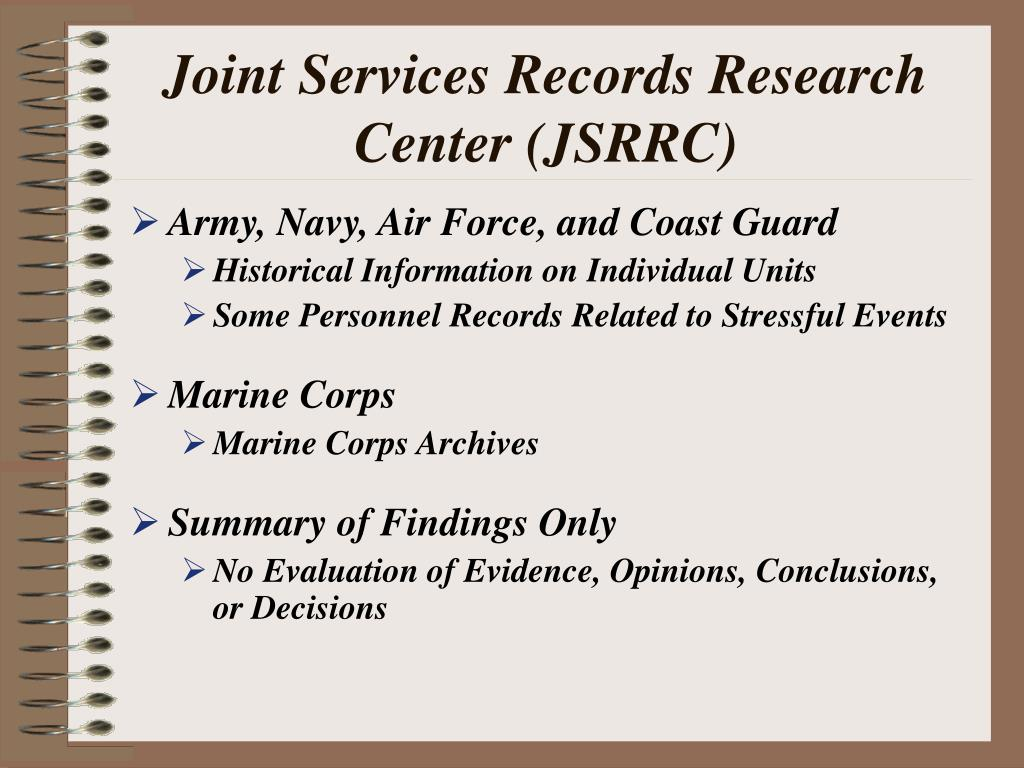Joint Services Records Research Center (JSRRC)