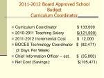 2011 2012 board approved school budget curriculum coordinator34