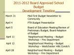 2011 2012 board approved school budget development timeline83