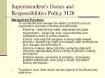 superintendent s duties and responsibilities policy 312012