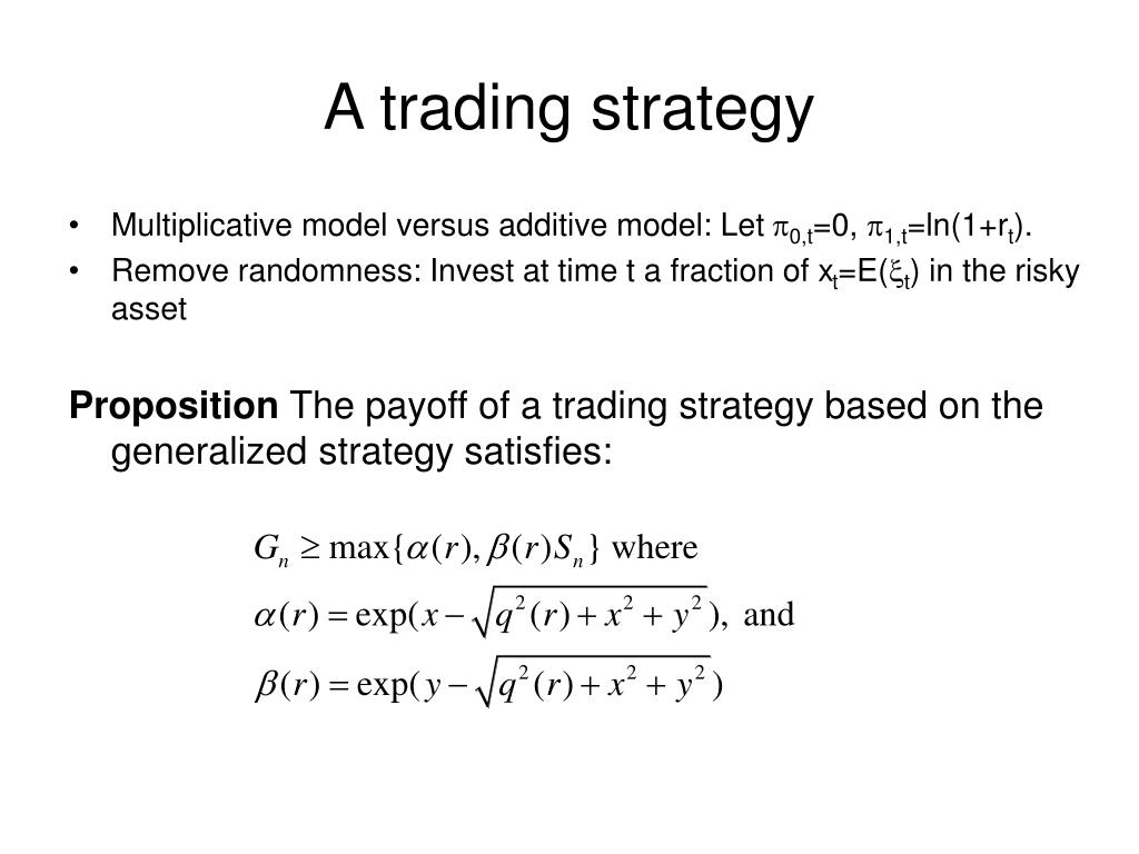 A trading strategy