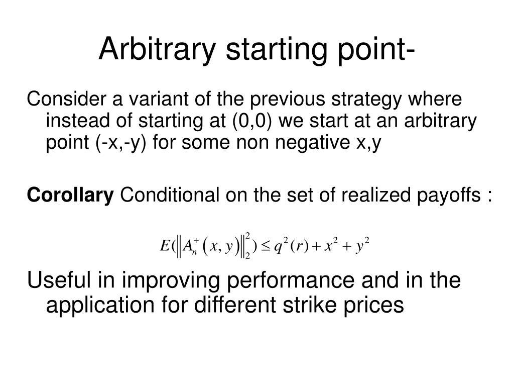 Arbitrary starting point-