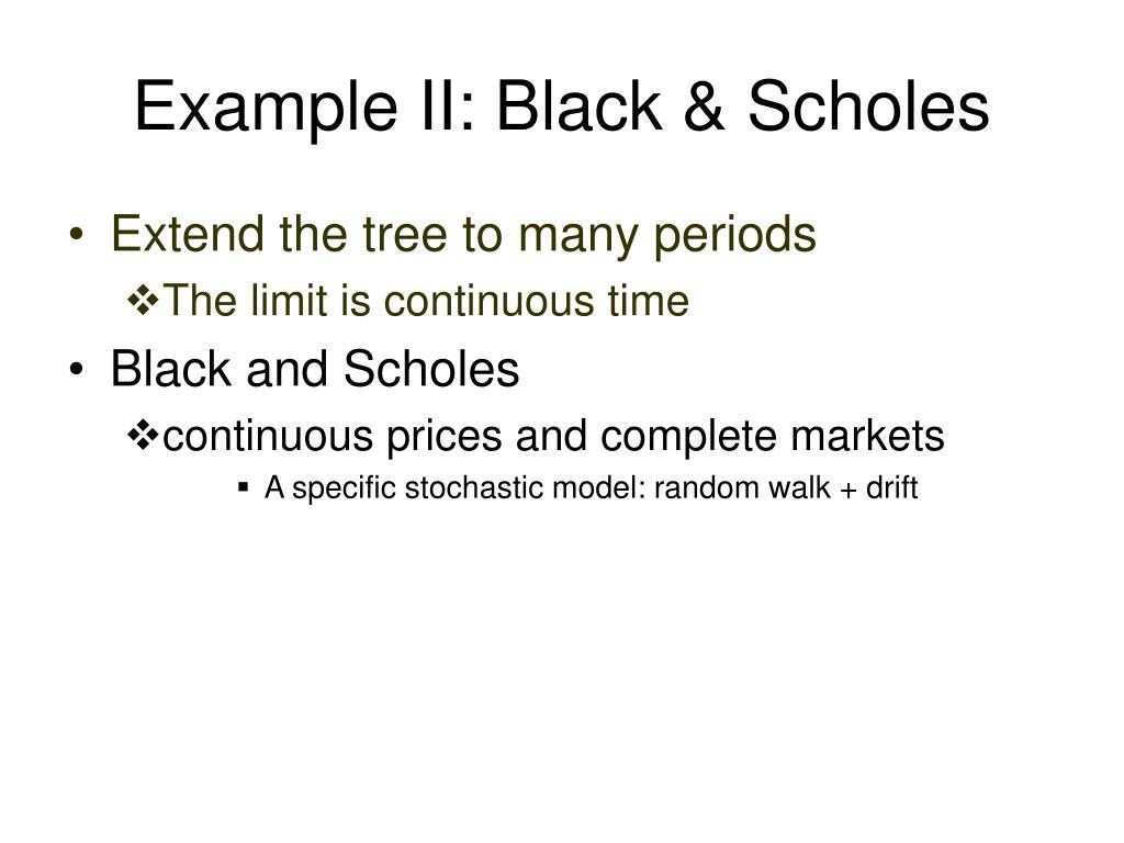 Example II: Black & Scholes