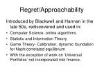 regret approachability
