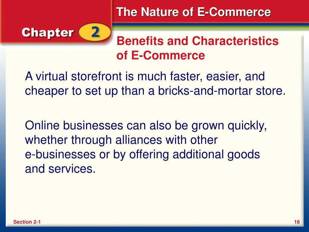 Benefits and Characteristics of E-Commerce