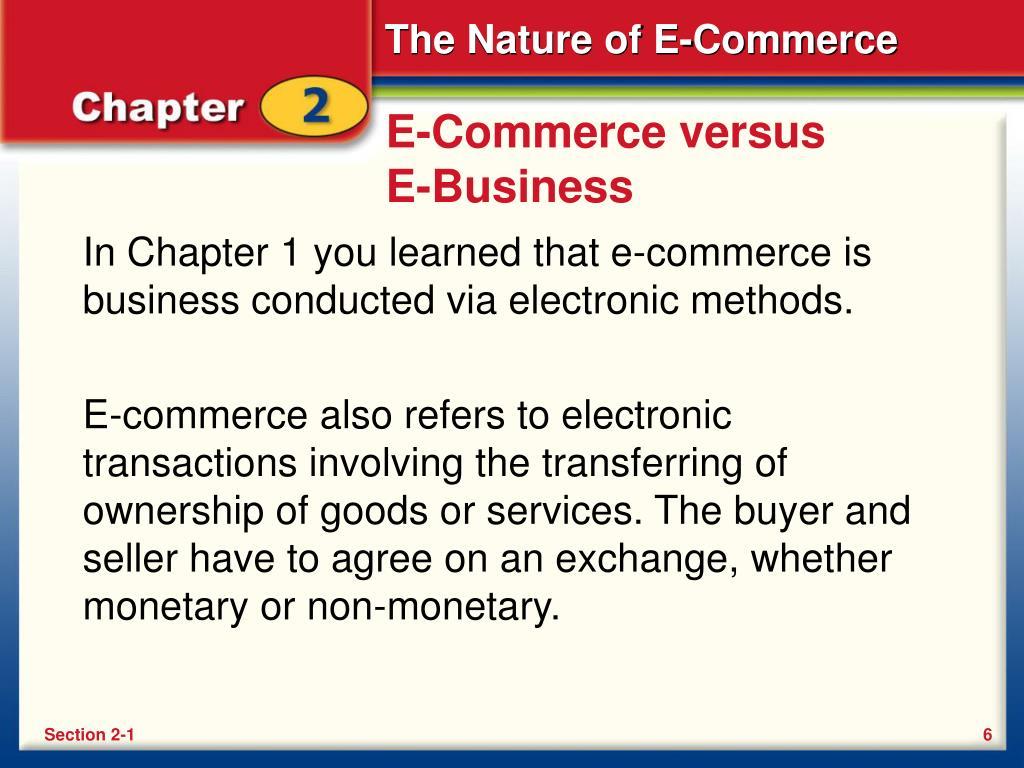 E-Commerce versus