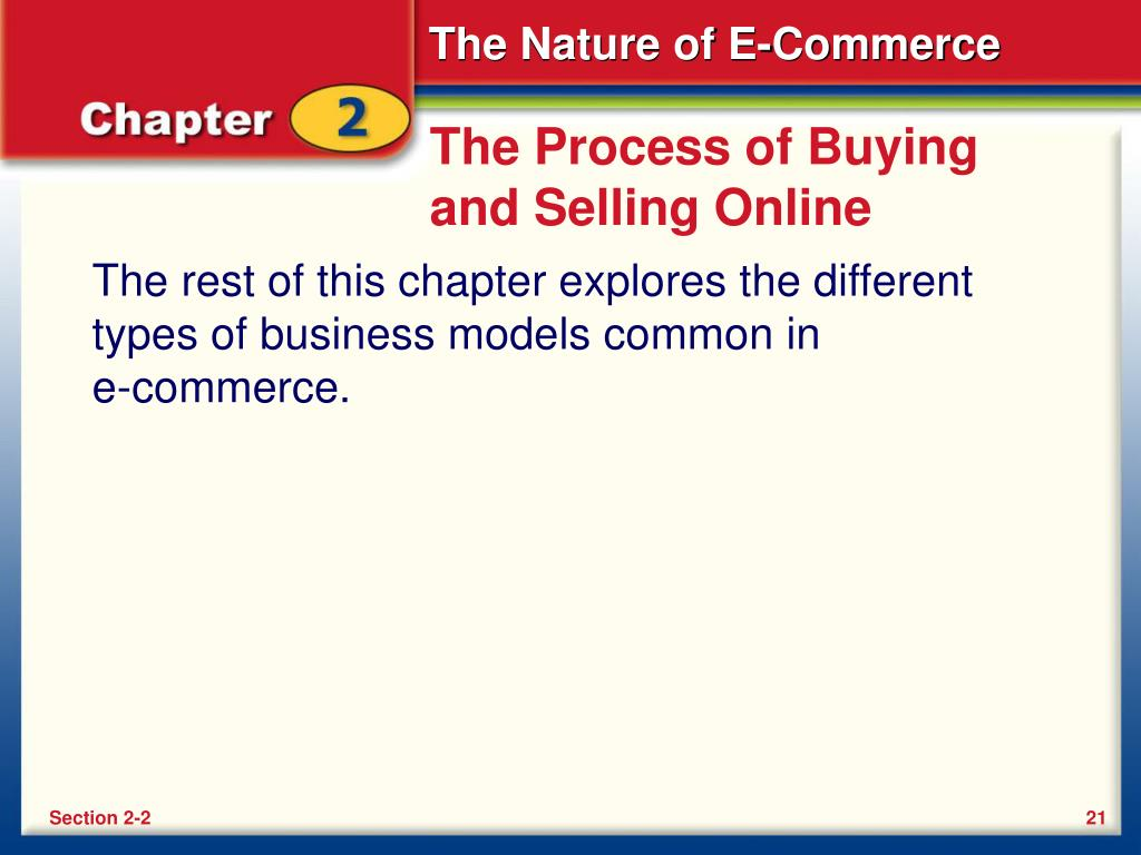 The Process of Buying and Selling Online