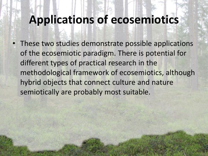 Applications of ecosemiotics