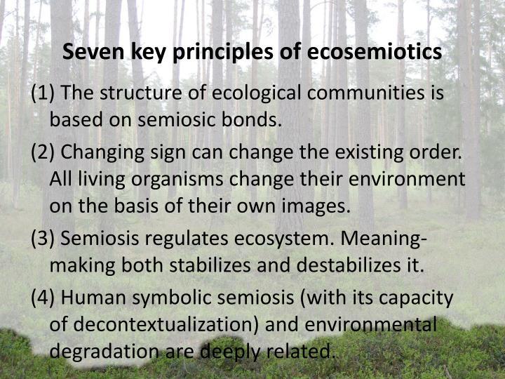 Seven key principles of ecosemiotics