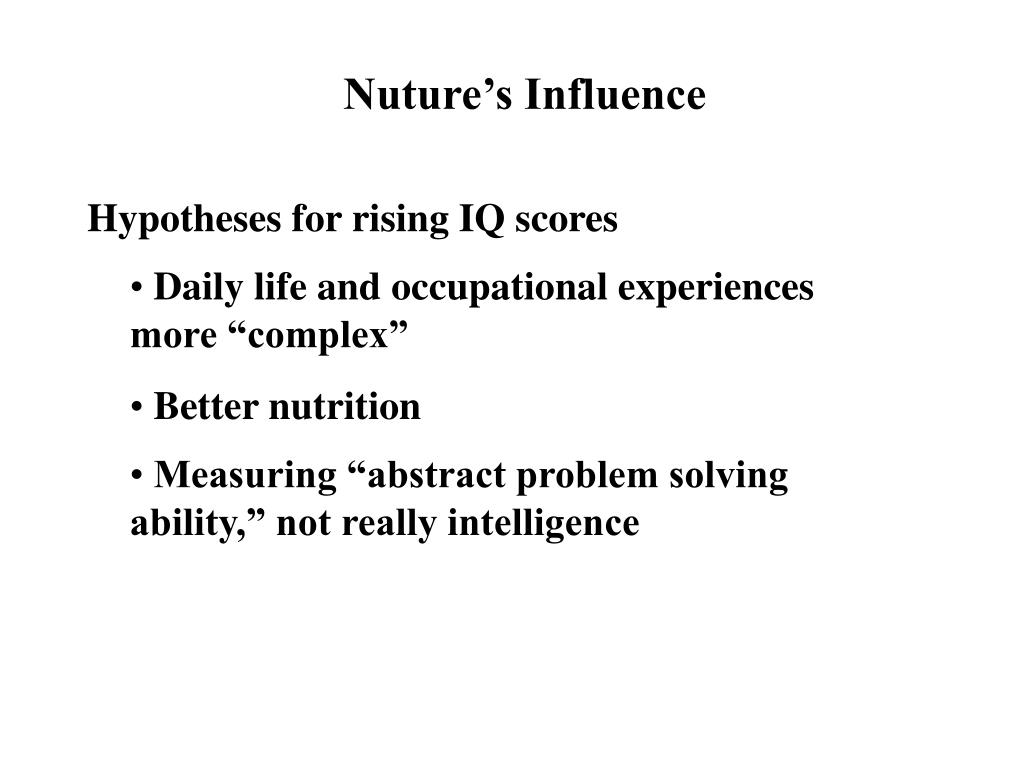 Hypotheses for rising IQ scores