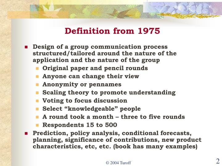 Definition from 1975