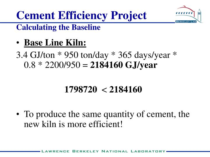 Cement Efficiency Project