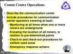 comm center operations