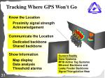 tracking where gps won t go