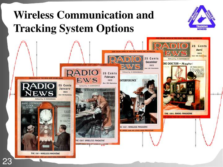 Wireless Communication and Tracking System Options