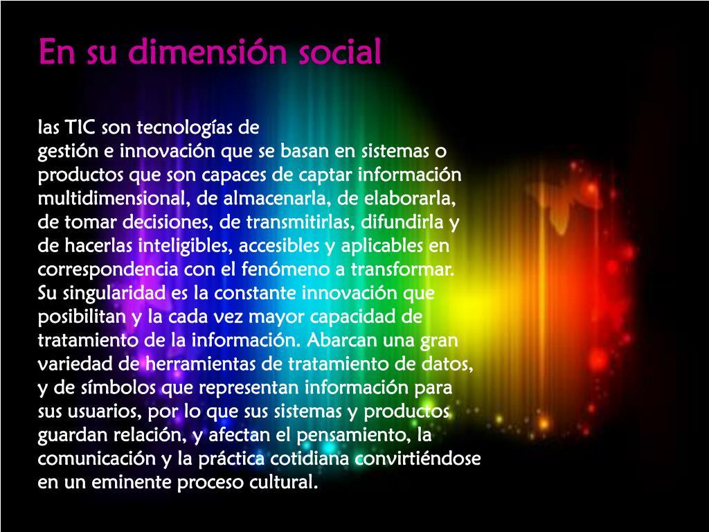 En su dimensión social