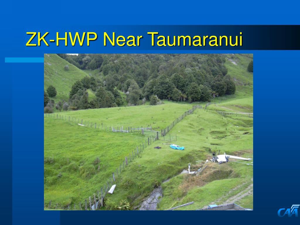 ZK-HWP Near Taumaranui