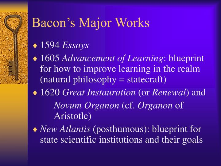 Bacon's Major Works
