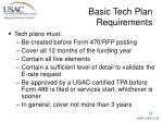 basic tech plan requirements