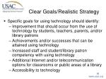 clear goals realistic strategy