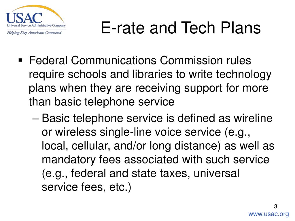 E-rate and Tech Plans