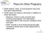 plans for other programs
