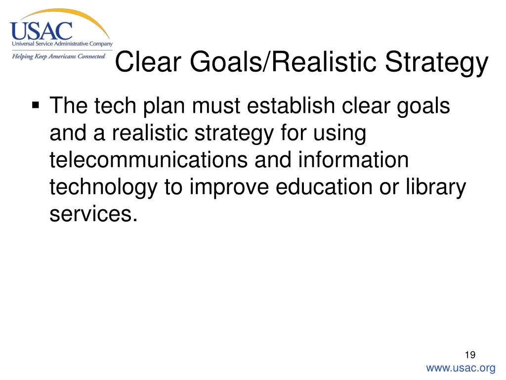 Clear Goals/Realistic Strategy