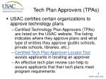 tech plan approvers tpas