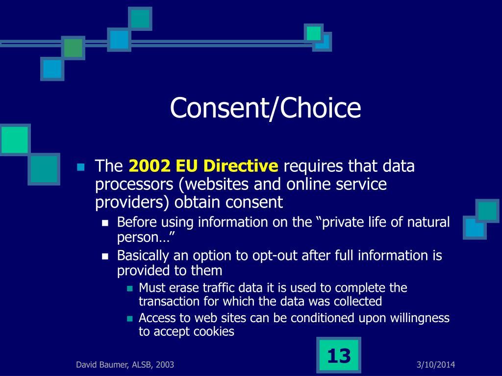 Consent/Choice