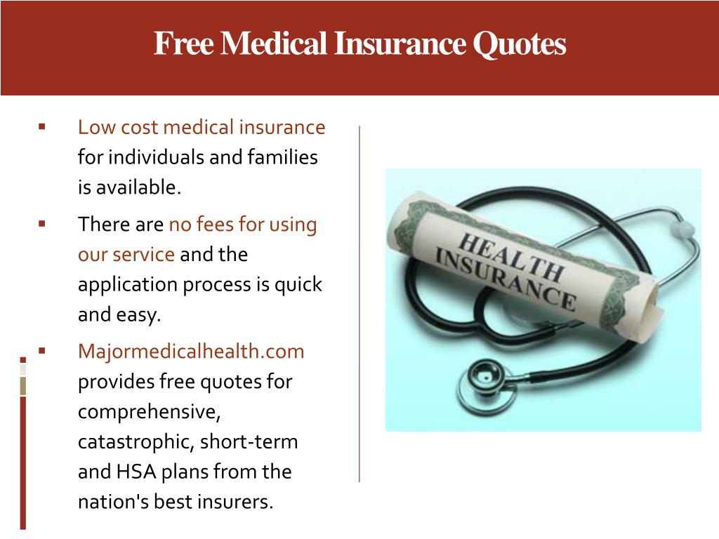 Free Medical Insurance Quotes
