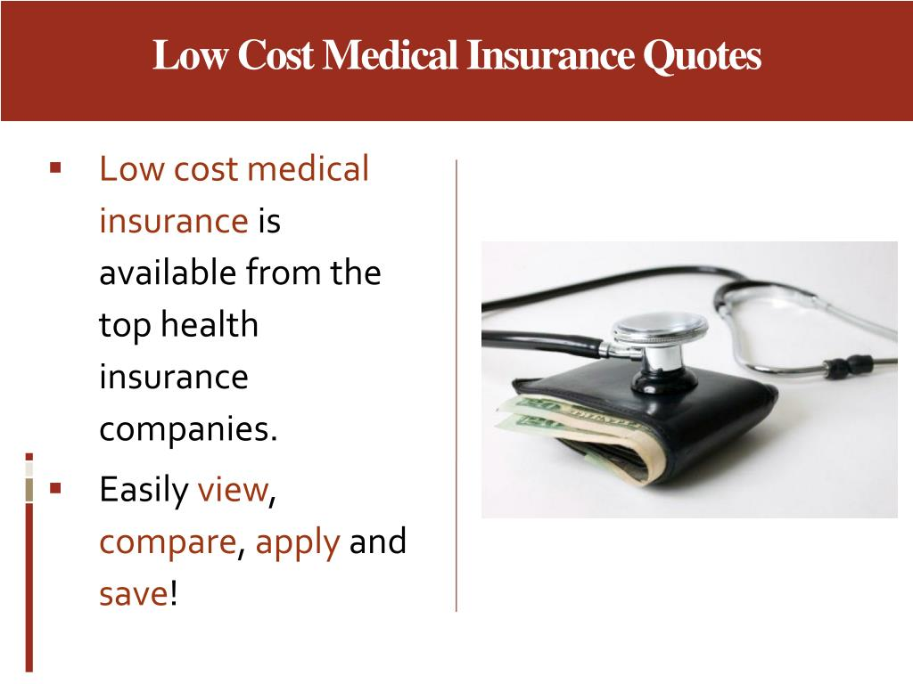 Low Cost Medical Insurance Quotes