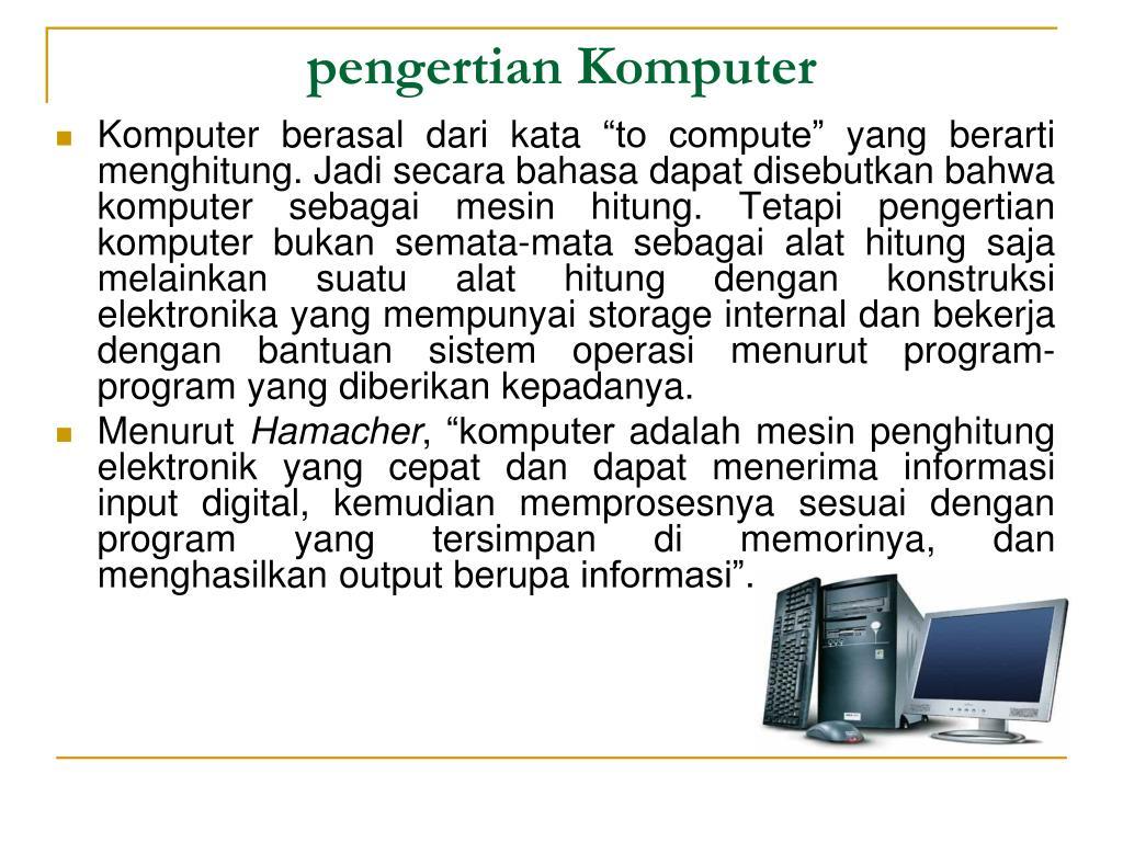 pengertian Komputer
