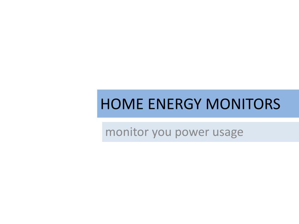 home energy monitors