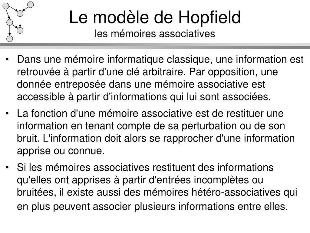 Le modèle de Hopfield