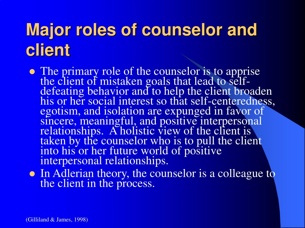 the roles of counselors and clients