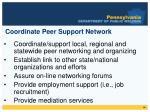 coordinate peer support network