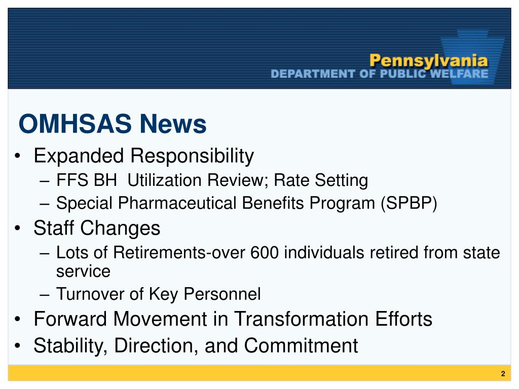 OMHSAS News