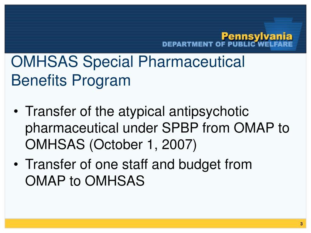 OMHSAS Special Pharmaceutical Benefits Program