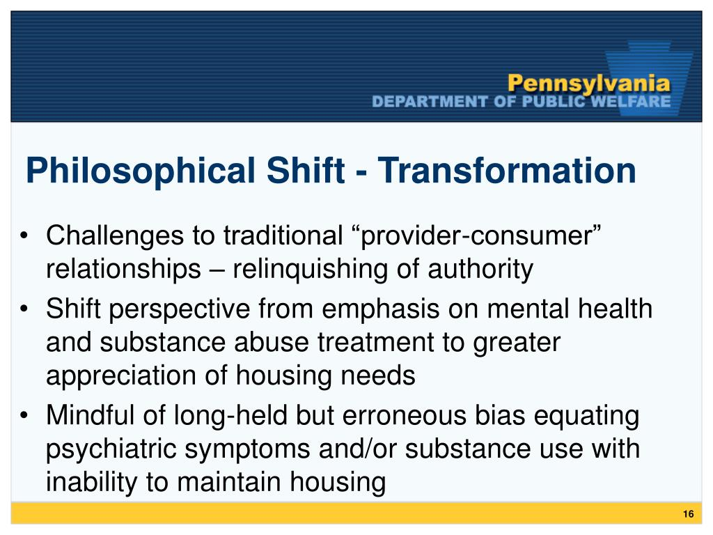 Philosophical Shift - Transformation