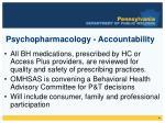 psychopharmacology accountability