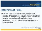 recovery and home