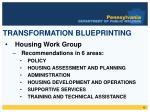 transformation blueprinting