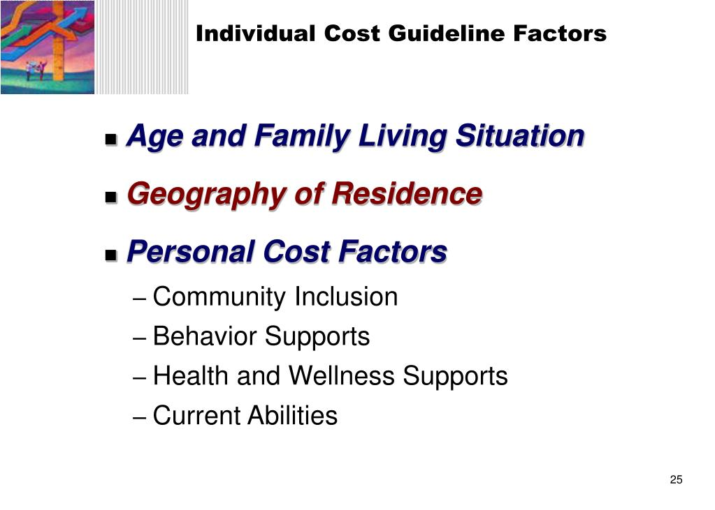 Individual Cost Guideline Factors