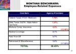 montana benchmark employee related expenses