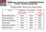 shadowing comparison of standard rates to sept october shadowing