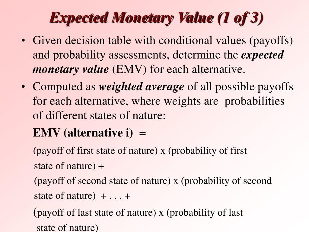 Expected Monetary Value