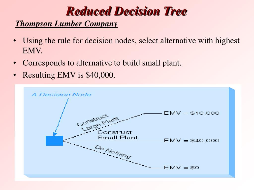 Reduced Decision Tree