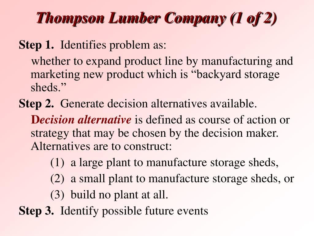 Thompson Lumber C